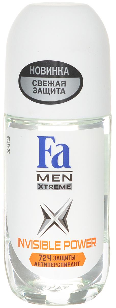 FA MEN Xtreme Дезодорант роликовый Invisible, 50 мл784039Fa Men Invisible Power – Защита против пота, запаха и следов. Специальная формула обеспечивает надежную защиту от белых, желтых и масляных следов на одежде. Научно доказано: 72ч защиты от пота и запаха Хорошая переносимость кожей подтверждена дерматологами.Также почувствуйте притягательную свежесть, принимая душ с гелем для душа Fa Men.