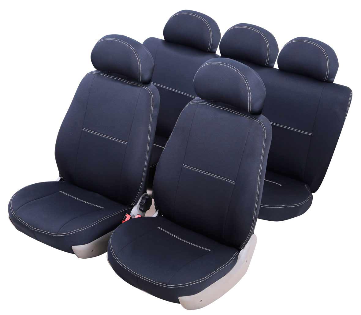 Чехол на автокресло Azard Standard для Renault Sandero (2014-н.в), раздельный задний рядA4013561Модельные чехлы из полиэстера Azard Standard. Разработаны в РФ индивидуально для каждого автомобиля. Чехлы Azard Standard серийно выпускаются на собственном швейном производстве в России. Чехлы идеально повторяют штатную форму сидений и выглядят как оригинальная обивка сидений. Для простоты установки используется липучка Velcro, учтены все технологические отверстия. Чехлы сохраняют полную функциональность салона - трансформация сидений, возможность установки детских кресел ISOFIX, не препятствуют работе подушек безопасности AIRBAG и подогрева сидений. Дизайн чехлов Azard Standard приближен к оригинальной обивке салона. Декоративная контрастная прострочка по периметру авточехлов придает стильный и изысканный внешний вид интерьеру автомобиля. Чехлы Azard Standard изготовлены из полиэстера, триплированного огнеупорным поролоном толщиной 3 мм, за счет чего чехол приобретает дополнительную мягкость. Подложка из спандбонда сохраняет свойства поролона и...
