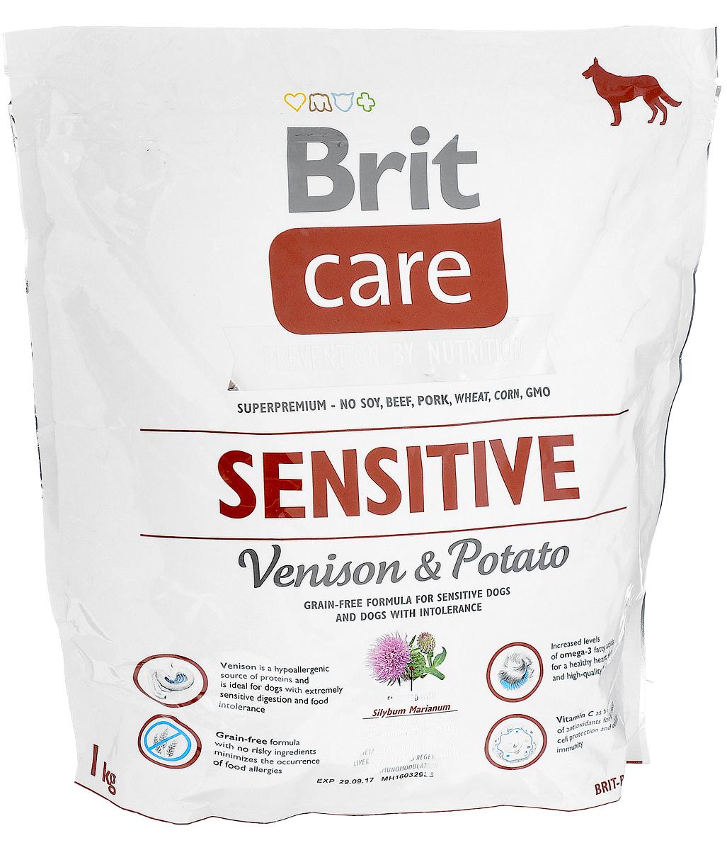 Корм сухой Brit Care Sensitive для собак с чувствительным пищеварением, с олениной и картофелем, 1 кг8595602510825Сухой полнорационный корм Brit Care Sensitive предназначен для собак с чувствительным пищеварением и при пищевой непереносимости. Специально разработанный состав улучшает баланс микрофлоры кишечника. Товар сертифицирован.