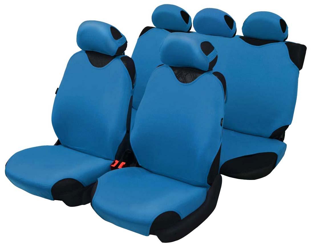 Чехол-майка Azard Cotton, полный комплект, цвет: темно-синий, 4+5 предметовМАЙ00015Универсальные чехлы-майки на передние сидения автомобиля. Приятный на ощупь мягкий материал имеет в своем составе 70% хлопка. Чехлы надежно прилегают к автокреслам и не собираются в процессе эксплуатации. Применимы в автомобилях с боковыми подушками безопасности (AIR BAG). Материал триплирован огнеупорным поролоном 2 мм, за счет чего чехол приобретает дополнительную мягкость и устойчивость к возгоранию. Авточехлы майки Azard Cotton износоустойчивы и легко стирается в стиральной машине. Рекомендуется стирка в деликатном режиме.