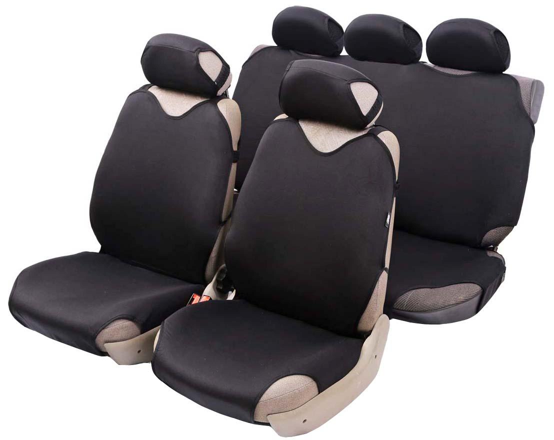 Чехол-майка Azard Cotton, полный комплект, цвет: черный, 4+5 предметовМАЙ00016Универсальные чехлы-майки на передние сидения автомобиля. Приятный на ощупь мягкий материал имеет в своем составе 70% хлопка. Чехлы надежно прилегают к автокреслам и не собираются в процессе эксплуатации. Применимы в автомобилях с боковыми подушками безопасности (AIR BAG). Материал триплирован огнеупорным поролоном 2 мм, за счет чего чехол приобретает дополнительную мягкость и устойчивость к возгоранию. Авточехлы майки Azard Cotton износоустойчивы и легко стирается в стиральной машине. Рекомендуется стирка в деликатном режиме.