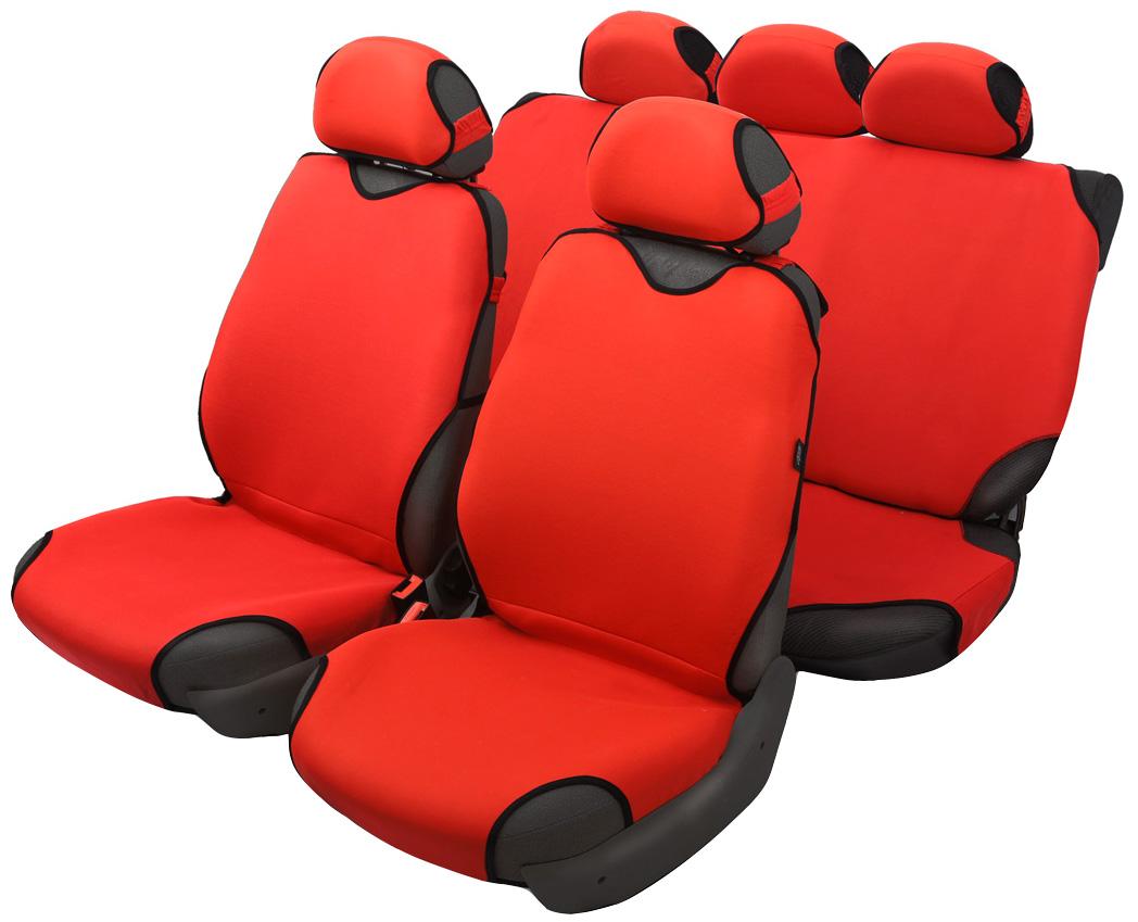 Чехол-майка Azard Sprint, полный комплект, цвет: красный, 4+5 предметовМАЙ00065Универсальные чехлы-майки на сидения автомобиля. Классический дизайн. Чехлы надежно прилегают к автокреслам и не собираются в процессе эксплуатации. Применимы в автомобилях с боковыми подушками безопасности (AIR BAG). Материал триплирован огнеупорным поролоном 2 мм, за счет чего чехол приобретает дополнительную мягкость и устойчивость к возгоранию. Авточехлы майки Azard Sprint износоустойчивы и легко стирается в стиральной машине. Рекомендуется стирка в деликатном режиме.