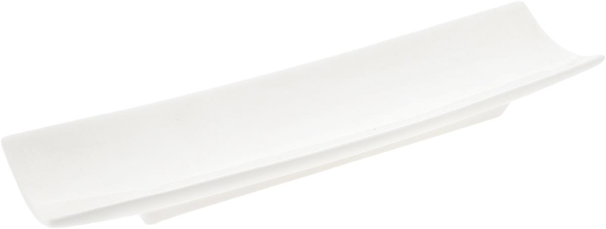 Блюдо Wilmax, 33 х 9 смWL-992627 / AОригинальное прямоугольное блюдо Wilmax, изготовленное из фарфора с глазурованным покрытием, прекрасно подойдет для подачи нарезок, закусок и других блюд. Оно украсит ваш кухонный стол, а также станет замечательным подарком к любому празднику. Размер блюда: 33 х 9 см.