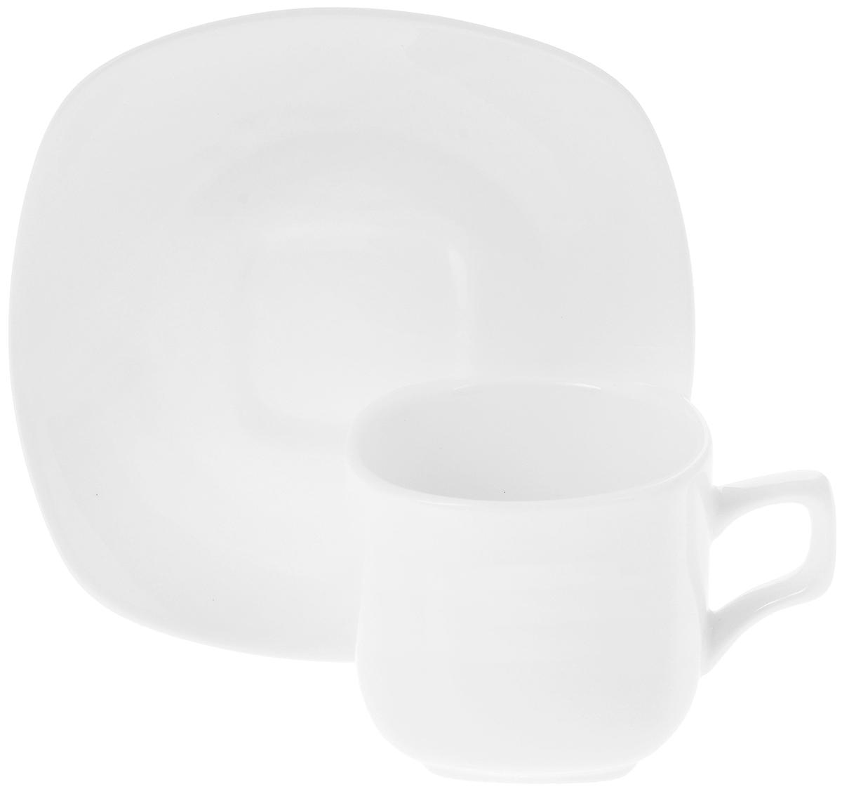 Чайная пара Wilmax, 2 предмета. WL-993003VT-1520(SR)Чайная пара Wilmax состоит из чашки и блюдца, выполненных из высококачественного фарфора и оформленных в классическом стиле. Оригинальный дизайн обязательно придется вам по вкусу. Чайная пара Wilmax украсит ваш кухонный стол, а также станет замечательным подарком к любому празднику.Объем чашки: 200 мл.Диаметр чашки (по верхнему краю): 7,5 см.Диаметр основания чашки: 4,5 см.Высота чашки: 7 см.Диаметр блюдца: 15 см.