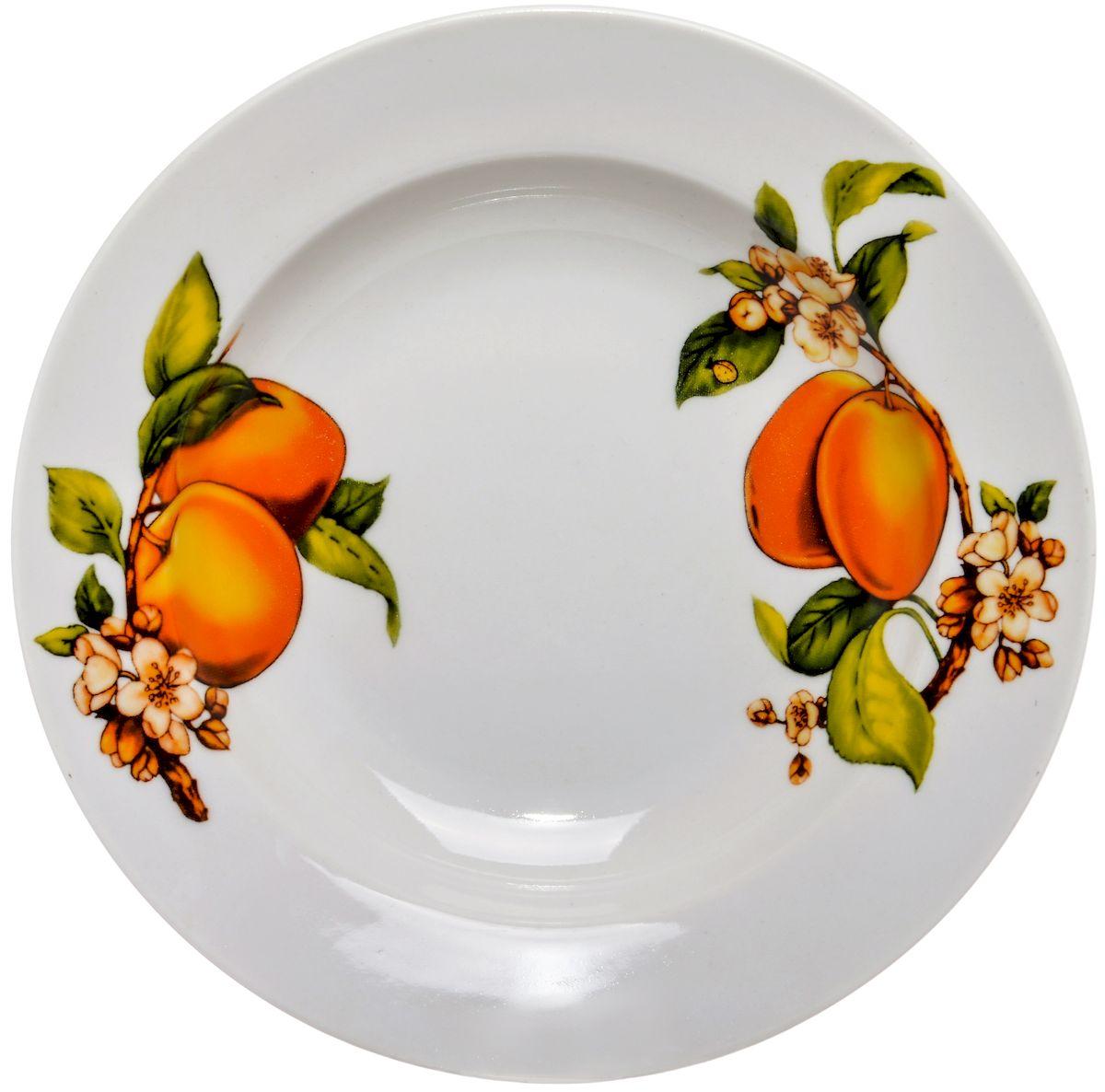 Тарелка глубокая Дулевский фарфор Абрикосы, 20 смDU00304ABПосуду можно использовать в СВЧ и мыть в посудомоечных машинах. Не рекомендуется использовать абразивные моющие средства.