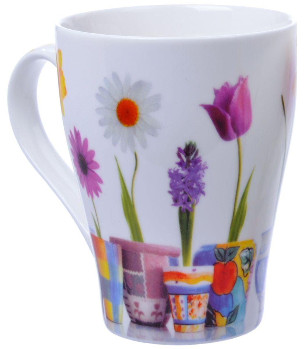 Кружка Liling Quanhu Первые цветы, 350 млLQB66-K02Благодаря стойким подглазурным деколям и безопасным краскам кружки LQ можно использовать в СВЧ и мыть в ПММ.