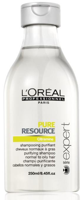 LOreal Professionnel Шампунь для нормальных и склонных к жирности волос Expert Pure Resource - 250 млБ33041_шампунь-барбарис и липа, скраб -черная смородинаШампунь Пюр Ресорс подходит для нормальных/склонных к жирности волос. Результат заметен уже после первого использования. Препарат разработан на основе технологии PUR BALANCE и в его состав входит вода повышенной очистки. Шампунь насыщен антиоксидантами. Он способствует восстановлению гидролипидного слоя кожи головы и устраняет излишки кожного жира. Содержит активный компонент, который смягчает жесткую воду. Волосы приобретают мягкость и блеск, выглядят очень ухоженными.