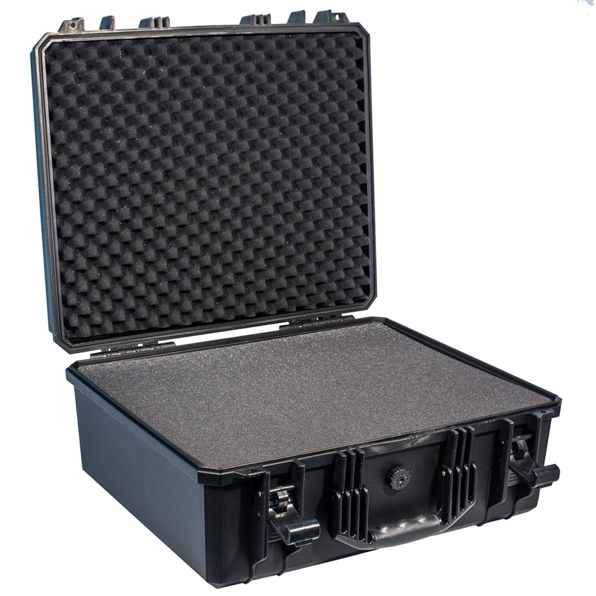 Кейс противоударный PRO-4x4 №7, влагозащищенный, 53,8 х 48,8 х 24,4 см, цвет: черныйPRO-BXF-B05348Самое широкое применение у кейсов №7 с наполнителем нашлось у профессионалов, которым нужно выезжать на объекты с диагностическим оборудованием илиточными измерительными приборами. Защищенные кейсы PRO-4x4 это надежный и проверенный способ сохранить в целостности дорогостоящее оборудование, требующее бережной транспортировки и гарантированной сохранности. Кейсы снабжены удобными и надежными ручками, в крышке имеется паз с резиновым уплотнением. Так же все кейсы PRO-4x4 имеют клапан выравнивания давления. Благодаря используемым материалам и технологии изготовления кейсы способны выдержать значительные ударные и статические нагрузки защищая свое содержимое от механических повреждений. Герметичность и пыле-влагозащищенность кейсов PRO-4x4 оградит дорогостоящую технику от агрессивной внешней среды и не позволит вывести ее из строя в процессе транспортировки. Великолепный внешний вид, потребительские свойства и непревзойдённое качество исполнения кейсов PRO-4x4 соответствуют запросам самых...