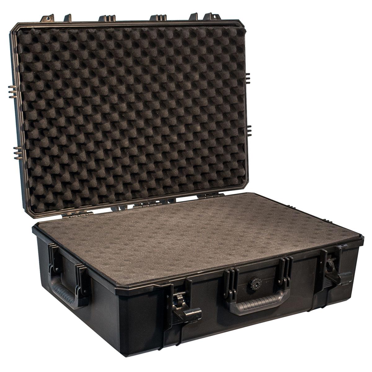 Кейс противоударный PRO-4x4 №8, влагозащищенный, 72 x 51,5 x 24,5 см, цвет: черныйPRO-BXF-B07251Кейс №8 с поропластом - это один из самых больших кейсов, позволяющих разместить Ваше оборудование, предварительно подготовив для него ложемент. Защищенные кейсы PRO-4x4 это надежный и проверенный способ сохранить в целостности дорогостоящее оборудование, требующее бережной транспортировки и гарантированной сохранности. Кейсы снабжены удобными и надежными ручками, в крышке имеется паз с резиновым уплотнением. Так же все кейсы PRO-4x4 имеют клапан выравнивания давления. Благодаря используемым материалам и технологии изготовления кейсы способны выдержать значительные ударные и статические нагрузки защищая свое содержимое от механических повреждений. Герметичность и пыле-влагозащищенность кейсов PRO-4x4 оградит дорогостоящую технику от агрессивной внешней среды и не позволит вывести ее из строя в процессе транспортировки. Великолепный внешний вид, потребительские свойства и непревзойдённое качество исполнения кейсов PRO-4x4 соответствуют запросам самых требовательных потребителей. В...
