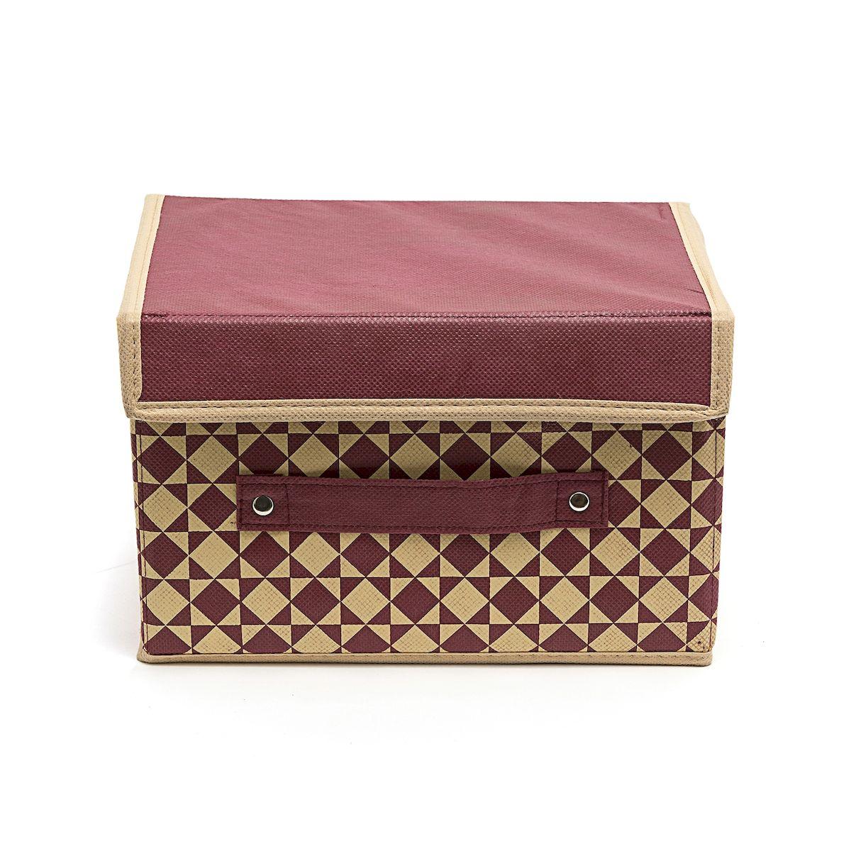 Коробка для хранения Homsu Bordo, 19 х 25 х 16 смHOM-395Вместительная коробка для хранения Homsu Bordo выполнена из плотного картона. Изделие обладает удобным размером и привлекательным дизайном, выполненным в приятной цветовой гамме. Внутри коробки можно хранить фотографии, ткани, принадлежности для хобби, памятные сувениры и многое другое. Крышка изделия удобно открывается и закрывается. Коробка для хранения Homsu Bordo станет незаменимой помощницей в путешествиях.