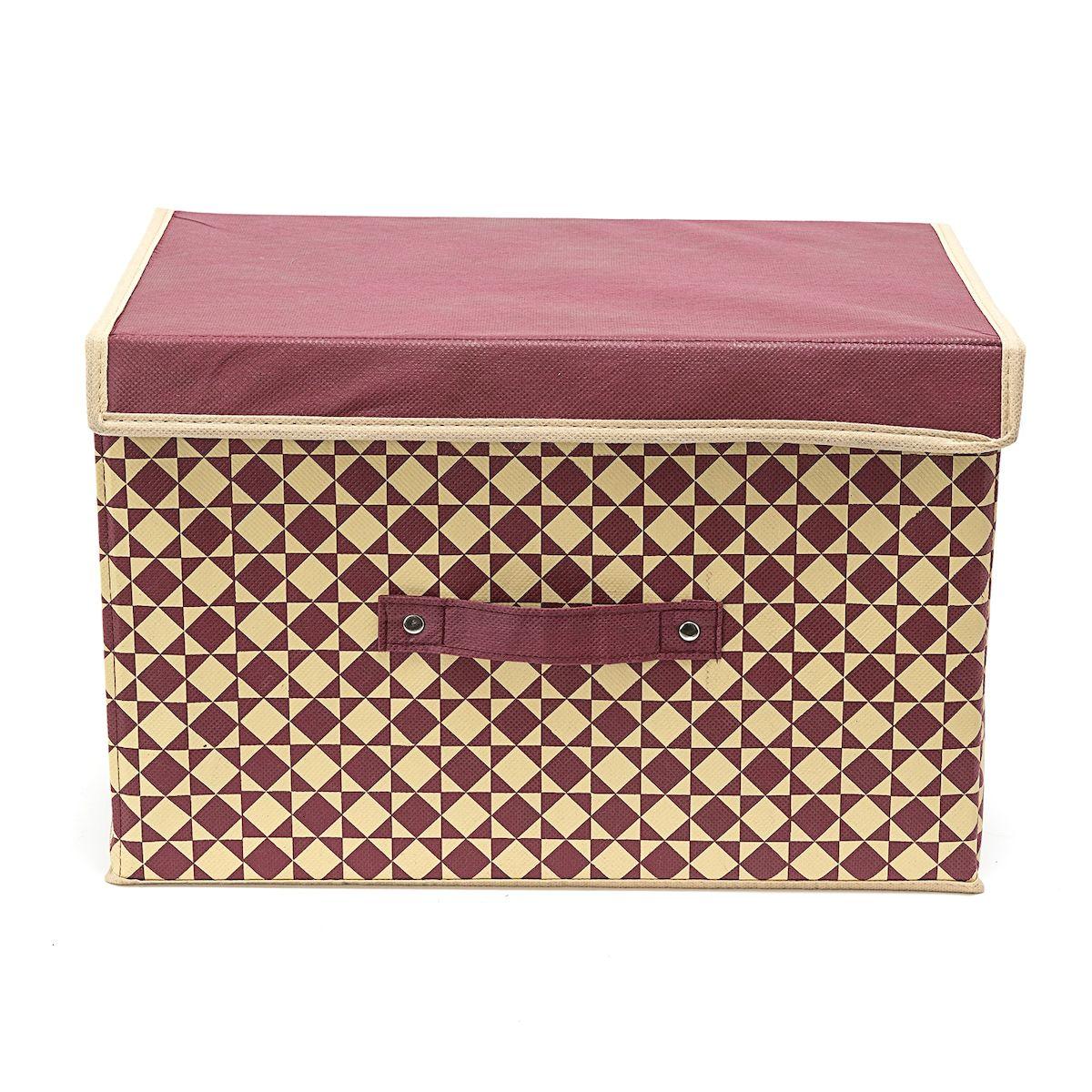Коробка для хранения Homsu Bordo, 38 х 25 х 25 смHOM-396Вместительная коробка для хранения Homsu Bordo выполнена из плотного картона. Изделие обладает удобным размером и привлекательным дизайном, выполненным в приятной цветовой гамме. Внутри коробки можно хранить фотографии, ткани, принадлежности для хобби, памятные сувениры и многое другое. Крышка изделия удобно открывается и закрывается. Коробка для хранения Homsu Bordo станет незаменимой помощницей в путешествиях.