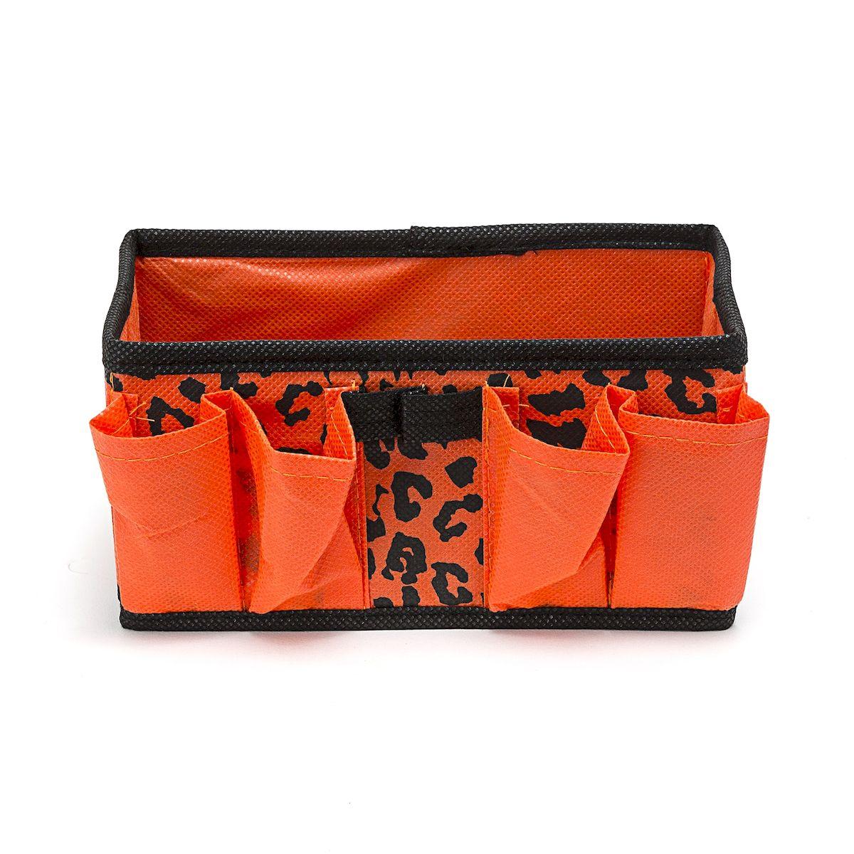Органайзер для хранения косметики и мелочей Leopard, 20 x 10 x 10 смHOM-423Органайзер Homsu Leopard выполнена из полиэстера и предназначена для хранения вещей. Изделие защитит вещи от повреждений, пыли, влаги и загрязнений во время хранения и транспортировки. Органайзер идеально подходит для хранения детских вещей и игрушек. Жесткий каркас из плотного толстого картона обеспечивает устойчивость конструкции. Размер: 20 х 10 х 10 см.