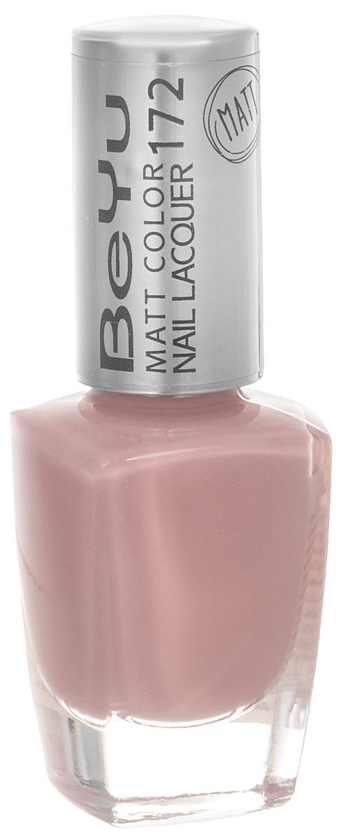 BeYu Лак для ногтей с матовым эффектом Matt Color Nail Lacquer 172 9 мл1301210Новый лак для ногтей с модным матовым финишем! Идеально матовое покрытие и насыщенные оттенки.