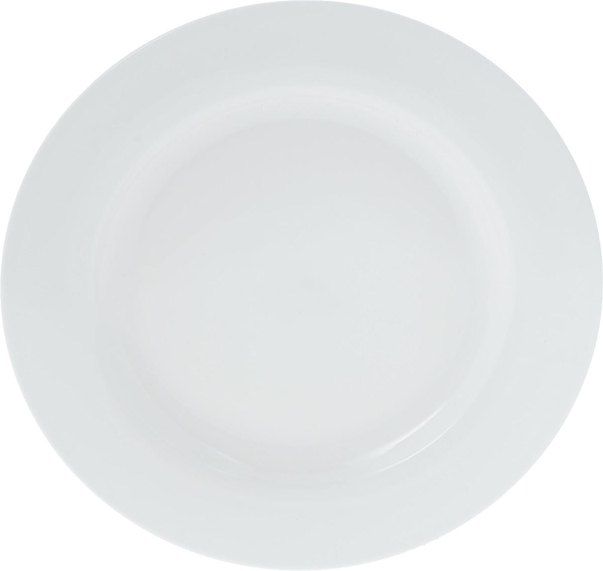 Тарелка Wilmax, диаметр 25,5 см. WL-991180 / AWL-991180 / AТарелка Wilmax, изготовленная из высококачественного фарфора, имеет классическую круглую форму. Оригинальный дизайн придется по вкусу и ценителям классики, и тем, кто предпочитает утонченность и изысканность. Тарелка Wilmax идеально подойдет для сервировки стола и станет отличным подарком к любому празднику.