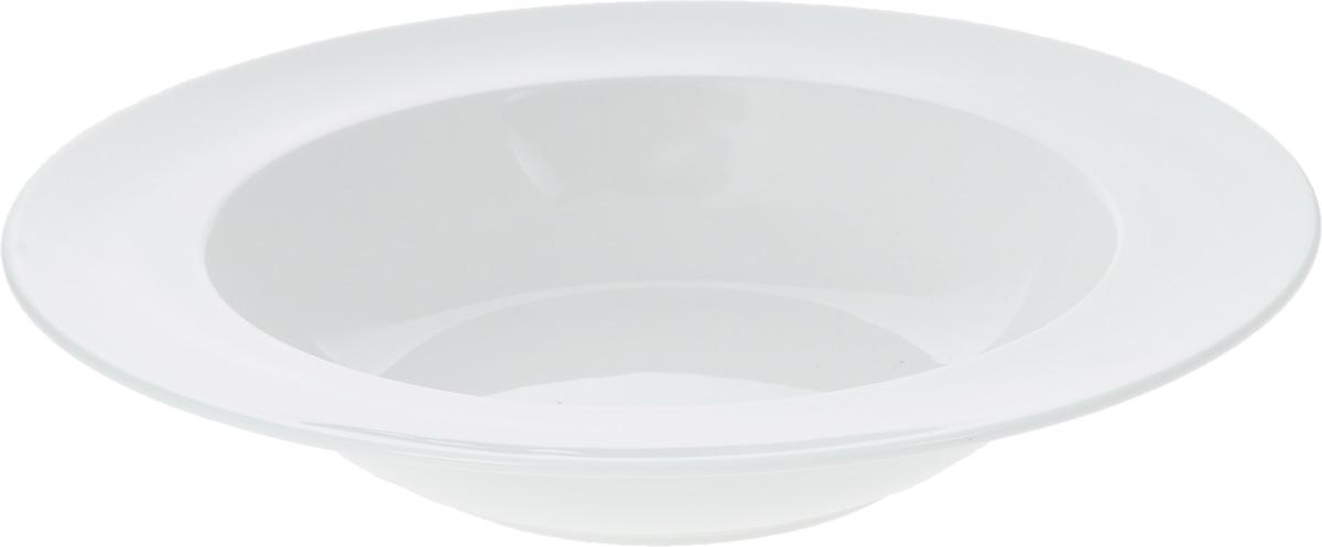 Тарелка глубокая Wilmax, диаметр 28 смWL-991219 / AГлубокая тарелка Wilmax, выполненная из высококачественного фарфора, предназначена для подачи супов и других жидких блюд. Она прекрасно впишется в интерьер вашей кухни и станет достойным дополнением к кухонному инвентарю. Тарелка Wilmax подчеркнет прекрасный вкус хозяйки и станет отличным подарком.