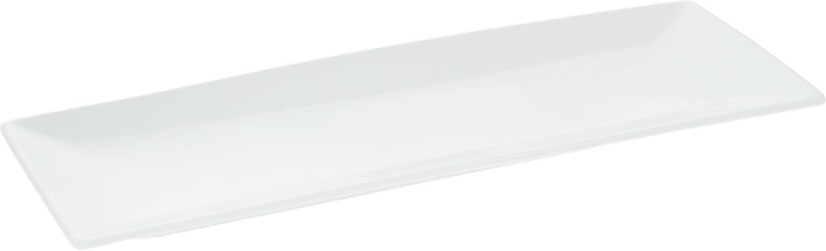 Блюдо Wilmax, 36 х 14 смWL-992016 / AОригинальное прямоугольное блюдо Wilmax, изготовленное из фарфора, прекрасно подойдет для подачи нарезок, закусок и других блюд. Оно украсит ваш кухонный стол, а также станет замечательным подарком к любому празднику. Размер блюда: 36 х 14 см.