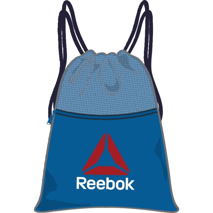 Рюкзак спортивный Reebok Os Gymsack, цвет: синий. AY0526AY0526Спортивный рюкзак выполнен из прочного полиэстера. Модель застегивается на регулируемый шнурок для комфорта. Карман спереди на молнии для хранения мелочей.