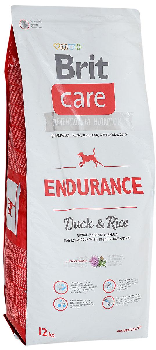 Корм сухой Brit Care Endurance для активных собак, с уткой и рисом, 12 кг0120710Brit Care Endurance - это полнорационный сухой корм для активных собак, расходующих много энергии. Оптимальное соотношение аминокислот (идеальный протеин) обеспечивает высокую усвояемость белков для мышечной ткани. Оказывает благоприятное влияние на кости, шерсть и хрящи.Товар сертифицирован.