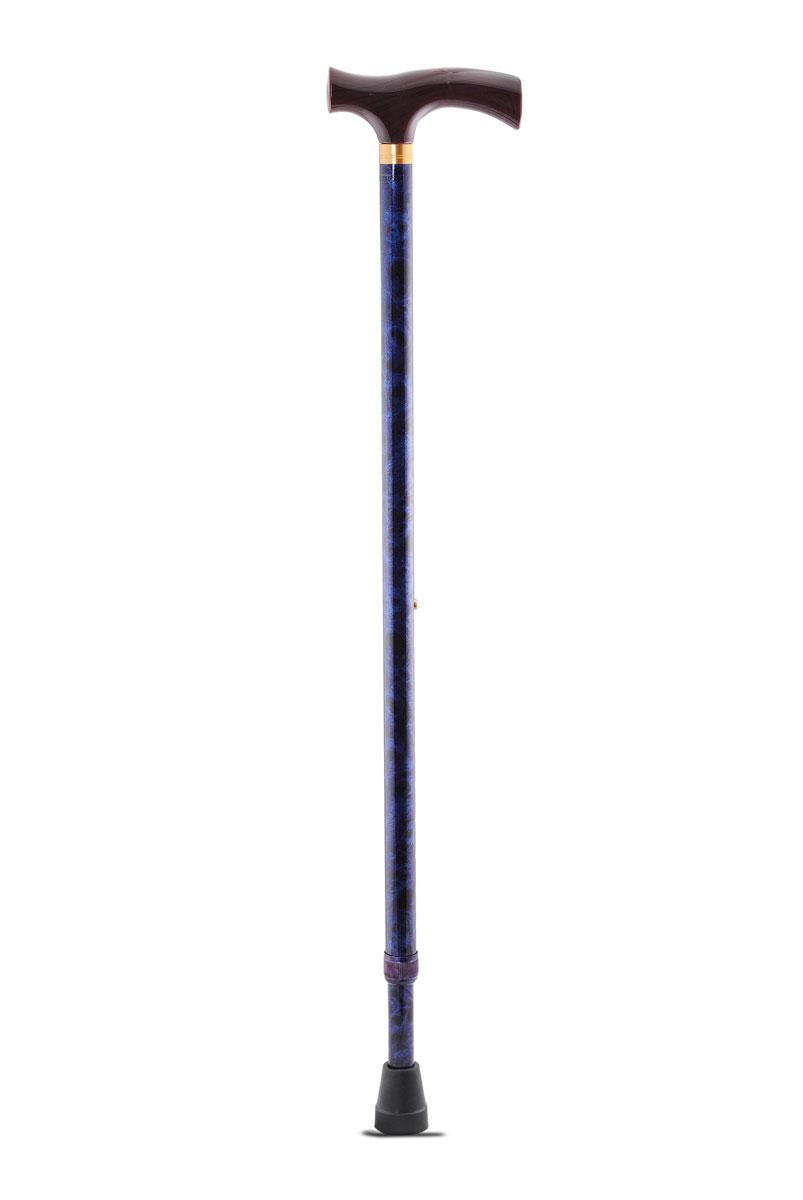 Amrus Трость телескопическая металлическая с ортопедической рукояткой (цвет синий) AMCT25 BU