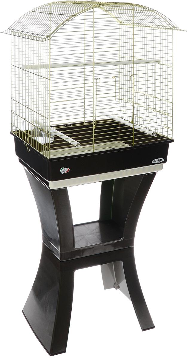 Клетка для птиц Imac Calla, на колесах и подставке, 62 х 43 х 78/150 см8021799403232Просторная клетка Imac Calla подходит для содержания птиц средних размеров. Изделие выполнено из высококачественного пластика и металла. В комплект входит: 4 кормушки, 3 жердочки, выдвижной пластиковый поддон для легкой уборки, подставка с колесиками. Подставка на колесиках позволит вам без проблем передвигать клетку в любое выбранное место. Такая клетка станет уютным домом для вашего попугая и прослужит ему много лет. Размер клетки (без подставки): 62 х 43 х 78 см. Размер клетки (с подставкой): 150 см.