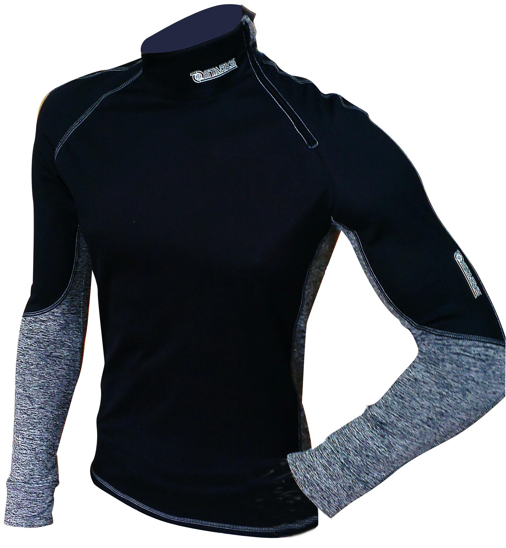 Термобелье кофта Starks Warm Extreme, зимняя, цвет: черный. Размер XLЛЦ0024_XLвысокотехнологичное термобелье, гарантированно на 100% не пропускает ветер, хорошо тянется и выпускает влагу наружу. Белье рекомендуется для использования не только спортсменам зимних видов спорта, но и парашютистам, мотоциклистам, велосипедистам -всем кто испытывает дискомфорт при сильном ветре, повышенной влажности. Анатомическое, выполнено из Европейской сертифицированной ткани Polarstretchи Windstopper. Высокие эластичные свойства материала позволяют белью максимально повторять индивидуальную анатомию тела. Отличные влагоотводящиесвойства, позволяют телу оставаться сухим. Термоизоляционные свойства, позволяют исключить переохлаждение или перегрев. Воротник стойка обеспечивает защиту шеи от холода. Молния -легкое одевание кофты. Особенности: STOP BACTERIA-Ткань с ионами серебра, предотвращает образование и развитие бактерий. Исключено образование запаха. Защита от перегрева или переохлаждения Система мягких и плоских швов Гипоаллергенно Состав:...