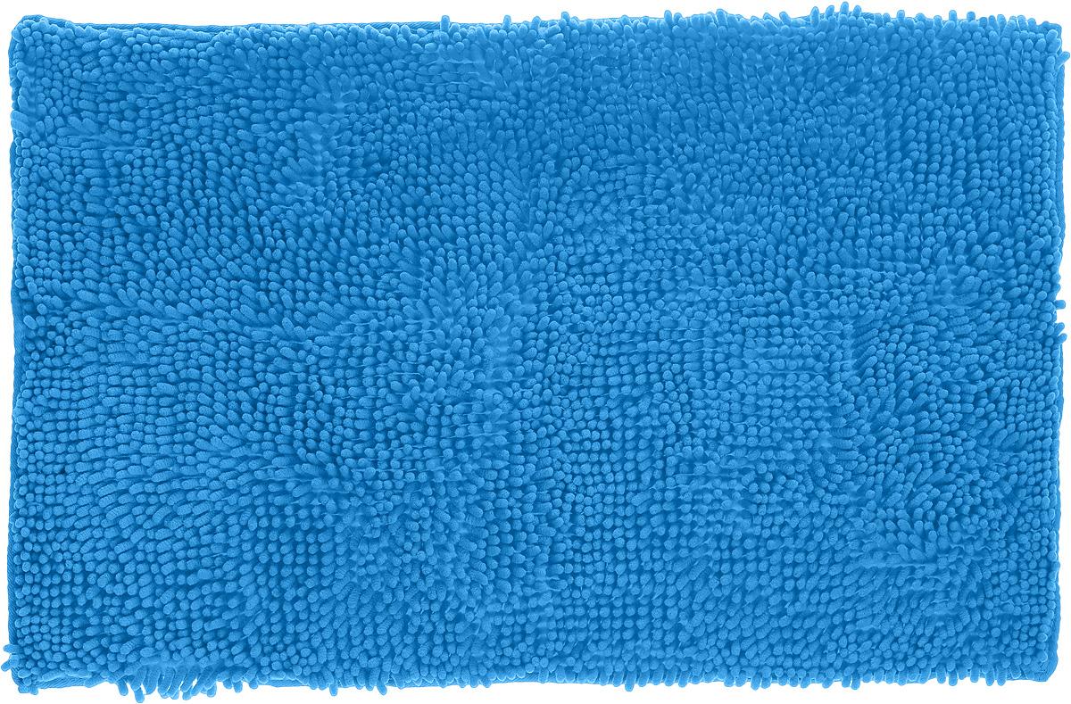 Коврик для ванной комнаты Top Star, цвет: голубой, 80 х 50 см291532_голубойКоврик Top Star, выполненный из 100% полиэстера, с высоким ворсом и противоскользящей пропиткой прекрасно подходит для ванной комнаты. Он мягкий и приятный на ощупь, отлично впитывает влагу и быстро сохнет. Высокая износостойкость коврика и стойкость цвета позволит наслаждаться изделием долгие годы. Рекомендации по уходу: - можно стирать в стиральной машине при 40°С, - не использовать отбеливатели, - не гладить, - барабанная сушка запрещена.