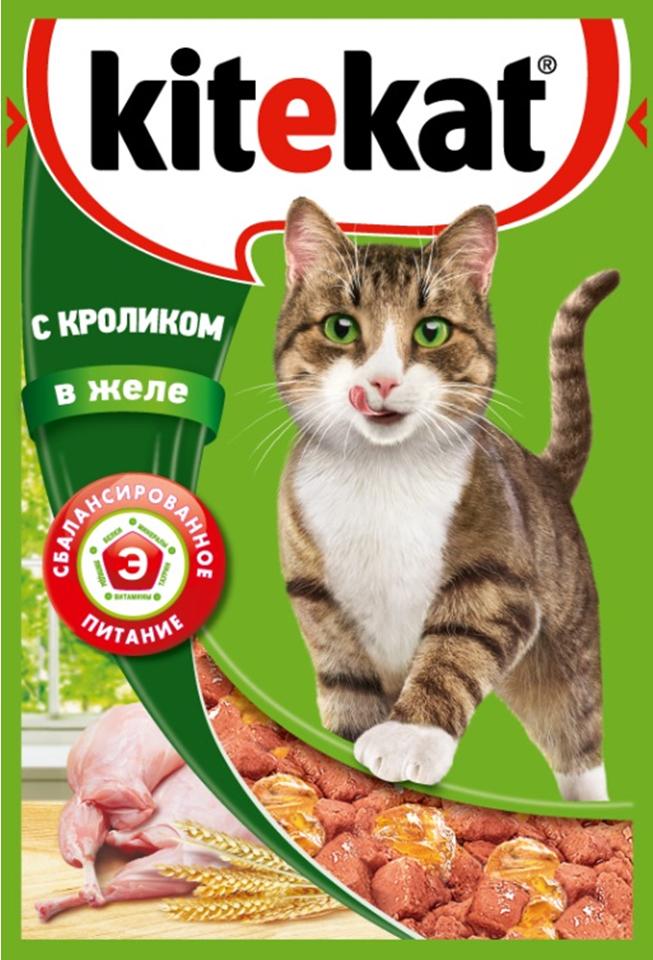 Консервы Kitekat для взрослых кошек, с кроликом в желе, 85 г0120710Консервы Kitekat - это порция сочных кусочков с кроликом, приготовленных по особому рецепту. В основе корма формула сбалансированного питания, которая содержит белки, минералы, витамины, таурин и животные жиры. Порадуйте вашего питомца - в каждой порции только качественные продукты, как и те, что на вашей кухне: мясные ингредиенты, злаки и жиры животного происхождения. Все натуральные свойства сохранены и правильно сбалансированы для энергии и здоровья вашего кота. Товар сертифицирован.