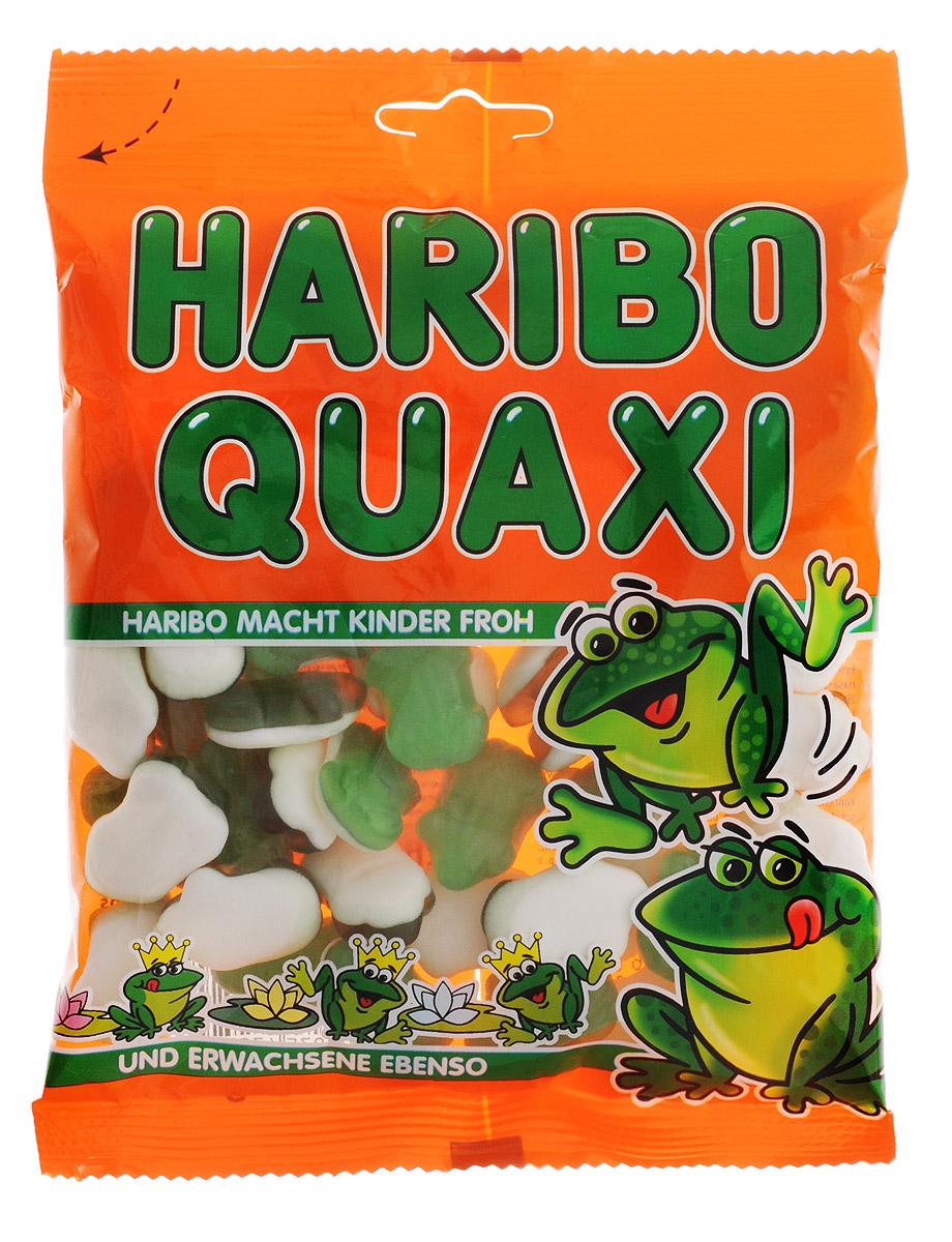 Haribo Лягушки жевательный мармелад, 200 г47251У лягушек Haribo белый животик из нежно вспененной сахарной массы с ароматом персика, а сверху – зеленый мармелад с добавлением мандаринового сока. Ни одна лягушка Haribo не содержит искусственных красителей и химических добавок. Натуральная мармеладная лягушка – натуральное мармеладное удовольствие!