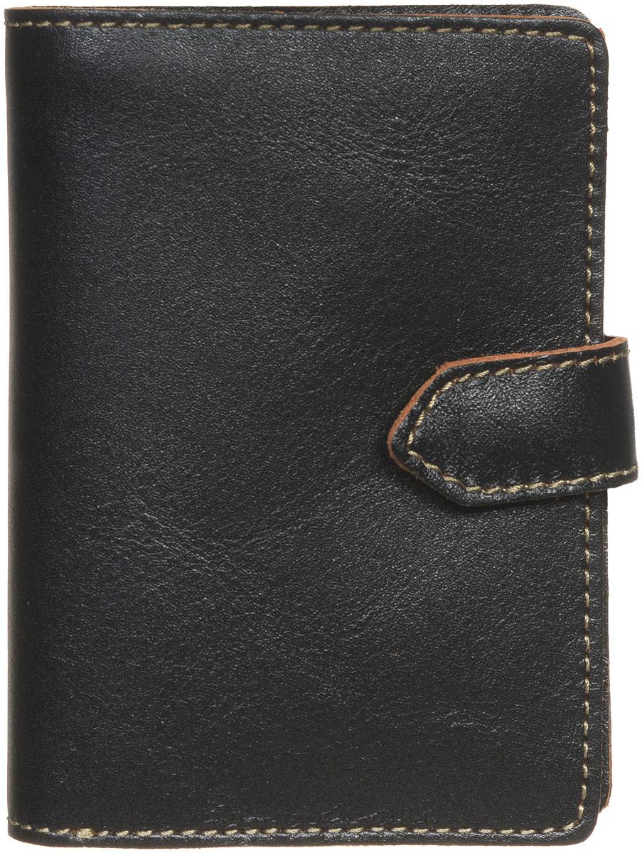 Портмоне мужское Fabula Kansas, цвет: черный. PM.7.TXFA16-11154_711Стильное мужское портмоне Fabula Kansas изготовлено из натуральной кожи и оформлено контрастной отделочной строчкой.Изделие раскладывается пополам, закрывается хлястиком на кнопку. Внутри расположены два отделения для купюр, карман для монет на кнопке, прорезной потайной карман, откидное отделение для пластиковых карт, включающее в себя три прорезных кармашка, закрывается хлястиком на кнопку.Стильное портмоне непременно подойдет к вашему образу и порадует простотой, стилем и функциональностью.
