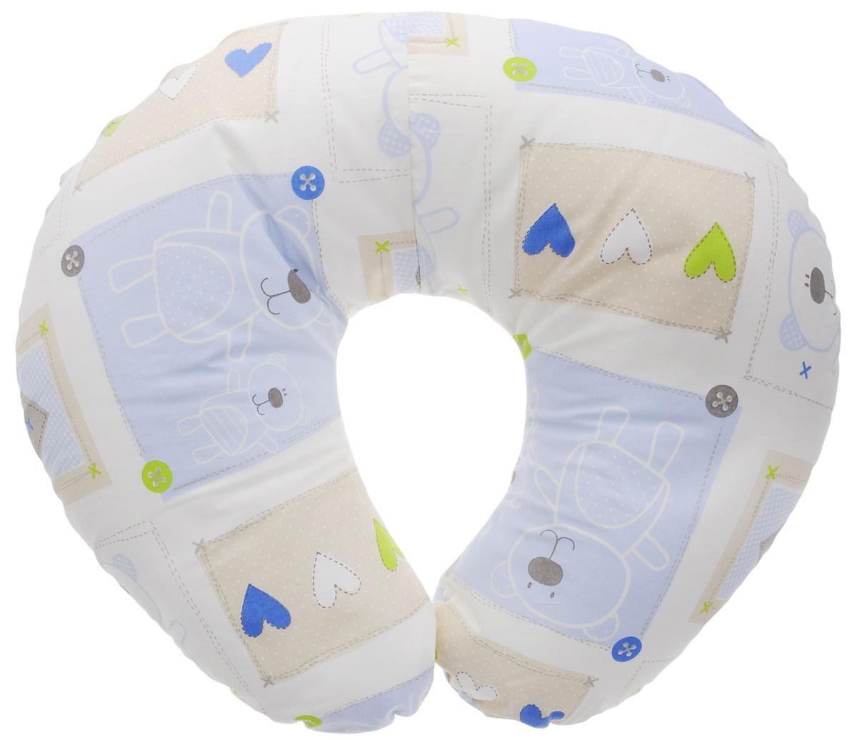 Plantex Подушка для кормящих и беременных мам Comfy Small Мишка и сердечки