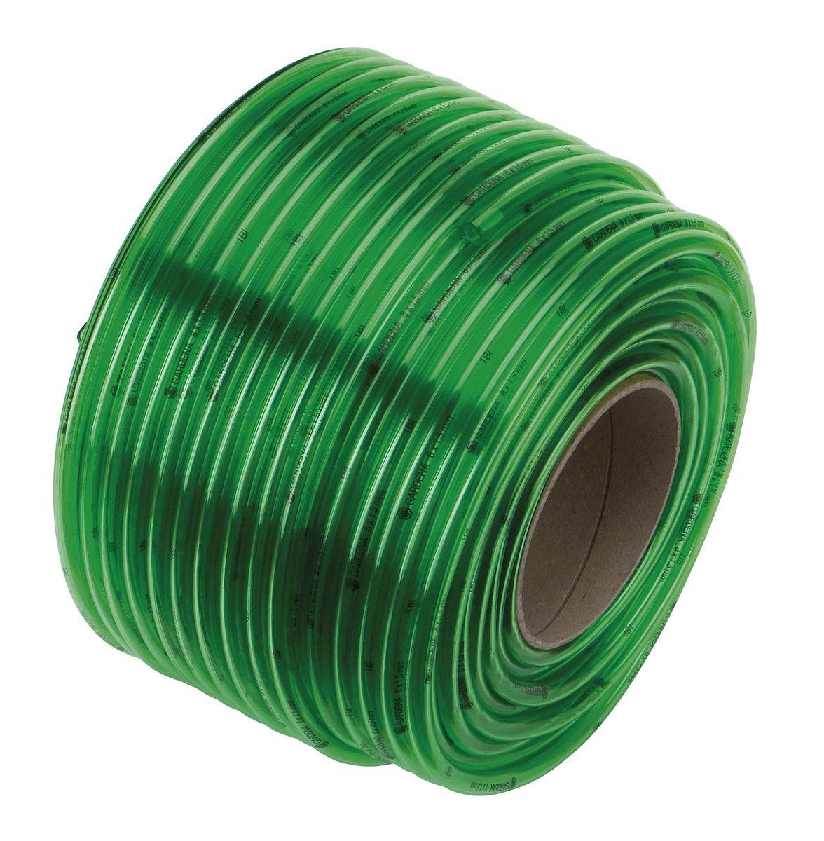 Gardena Шланг прозрачный зеленый 10х2 мм x 1 м (в бухте 50 м)