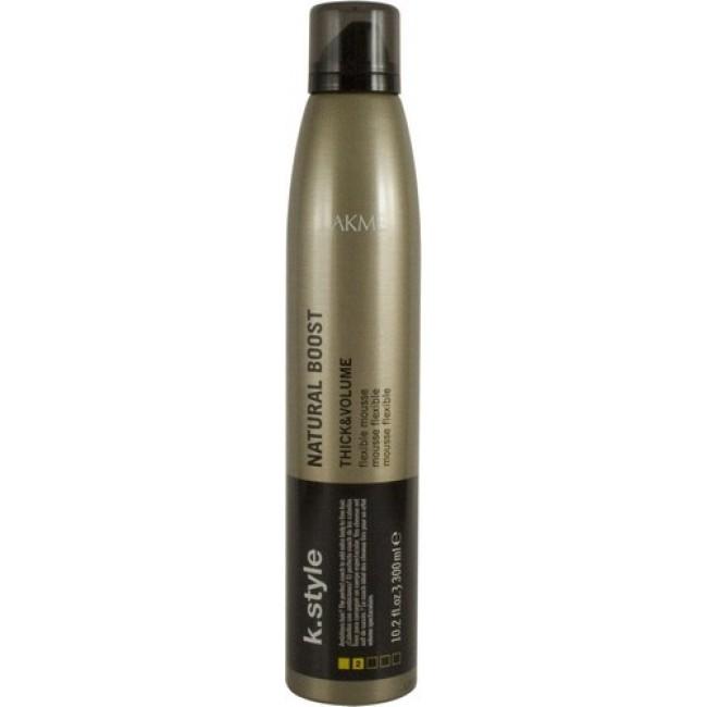 Lakme Мусс для прикорневого объема Natural Boost Flexible Mousse, 300 мл46423Мусс для прикорневого объема Lakme K Style Natural Boost Эластичная фиксация. Пружинистый прикорневой объем. Идеально подходит для тонких волос. Устойчив к влажности. Древесно - травяной аромат. Степень фиксации - 2