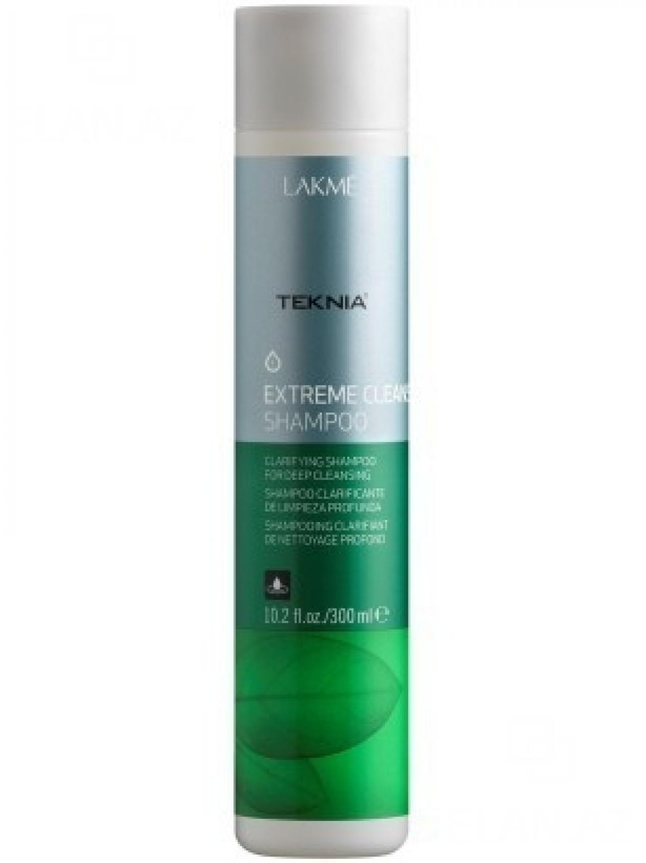 Lakme Шампунь для глубокого очищения Shampoo, 300 млFS-00897Обогащенный фруктовыми кислотами и экстрактом зеленого чая, он придает волосам естественный блеск и мягкость. Вытяжка из плодов индийского каштана оказывает вяжущее, антисептическое действие и обеспечивает глубокое очищение , как волос, так и кожи головы. Мягкая формула эффективно удаляет остатки укладочных средств и запахи, не вызывает раздражения. Входящий в состав ментол, мгновенно дает ощущение свежести. Шампунь для глубокого очищения Lakme Teknia Extreme Cleanse Shampoo содержит WAA™ – комплекс растительных аминокислот, ухаживающий за волосами и оказывающий глубокое воздействие изнутри. Идеально подходит для очень жирных волос.