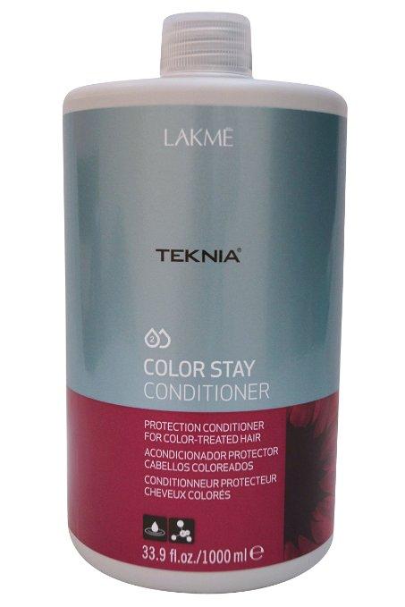 Lakme Кондиционер для защиты цвета окрашенных волос Conditioner, 1000 мл47521Специальная pH формула восстанавливает поврежденный кутикулярный слой волос. Надолго сохраняет цвет окрашенных волос, замедляя потерю пигмента. Кондиционер для защиты цвета окрашенных волос Lakme Teknia Color Stay Conditioner содержит WAA™ – комплекс растительных аминокислот, ухаживающий за волосами и оказывающий глубокое воздействие изнутри.