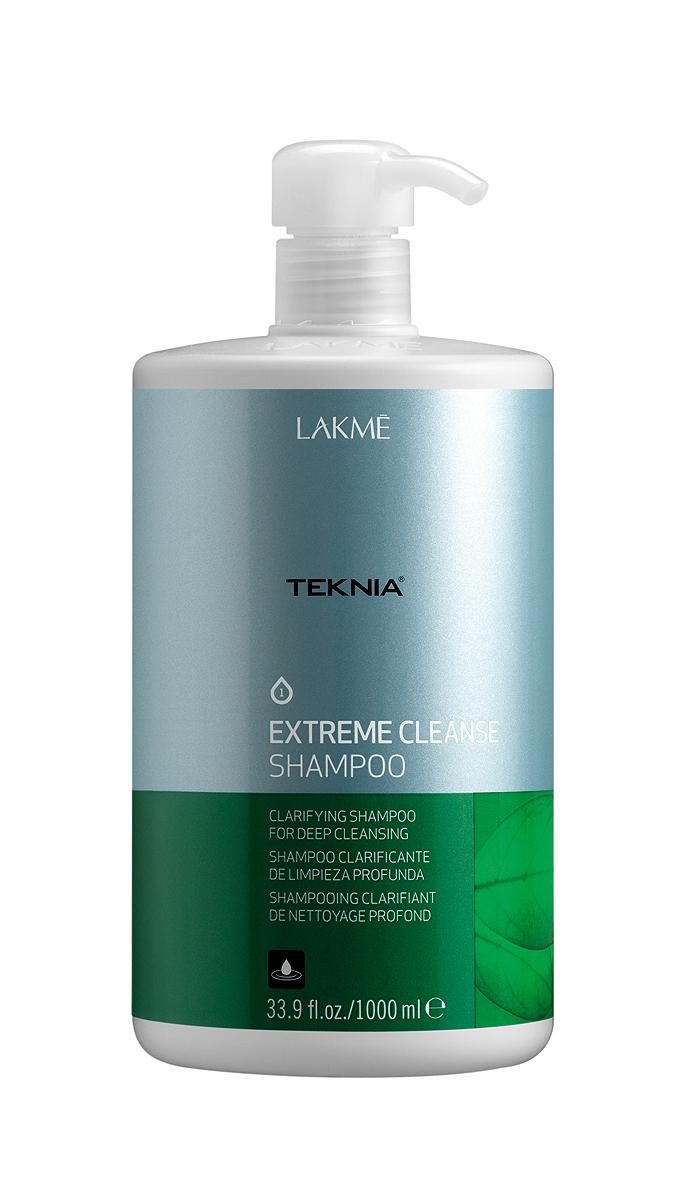 Lakme Шампунь для глубокого очищения Shampoo, 1000 млFS-00103Обогащенный фруктовыми кислотами и экстрактом зеленого чая, он придает волосам естественный блеск и мягкость. Вытяжка из плодов индийского каштана оказывает вяжущее, антисептическое действие и обеспечивает глубокое очищение , как волос, так и кожи головы. Мягкая формула эффективно удаляет остатки укладочных средств и запахи, не вызывает раздражения. Входящий в состав ментол, мгновенно дает ощущение свежести. Шампунь для глубокого очищения Lakme Teknia Extreme Cleanse Shampoo содержит WAA™ – комплекс растительных аминокислот, ухаживающий за волосами и оказывающий глубокое воздействие изнутри. Идеально подходит для очень жирных волос.