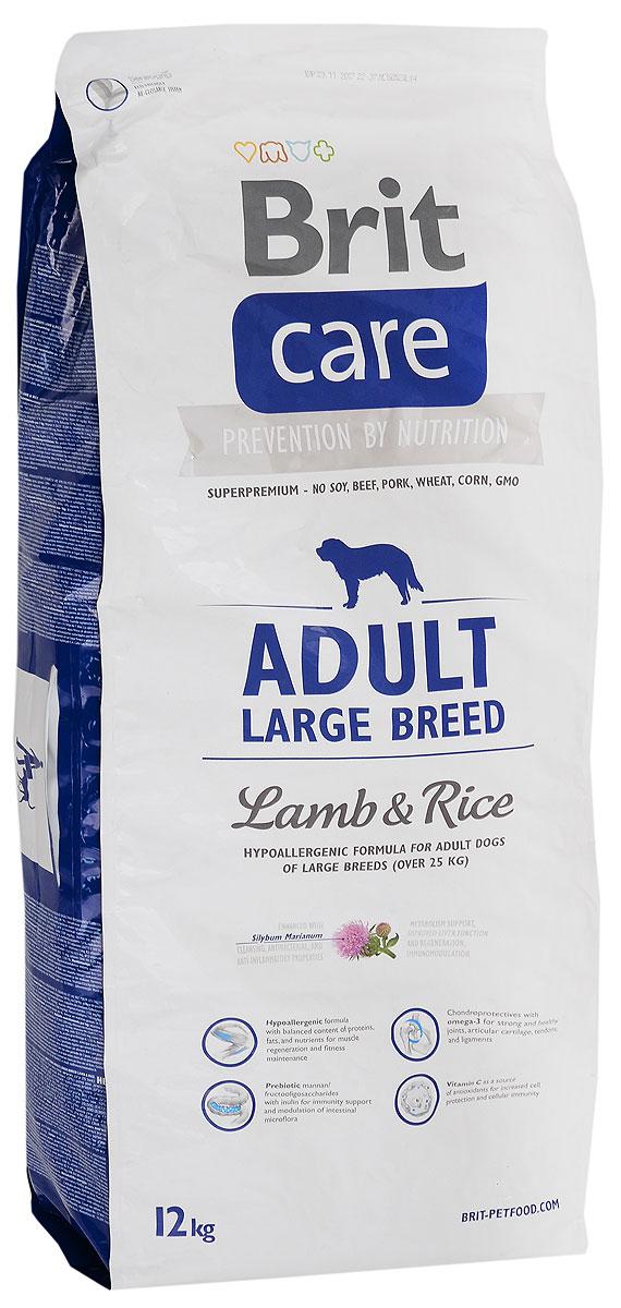 Корм сухой Brit Care Adult Large Breed для собак крупных пород, с ягненком и рисом, 12 кг0120710Сухой корм Brit Care Adult Large Breed - это полноценный рацион для собак крупных пород. Оптимальное соотношение Омега-3 и Омега-6 жирных кислот с органическим цинком и медью обеспечивает здоровое состояние кожи и улучшает качество шерсти.Товар сертифицирован.