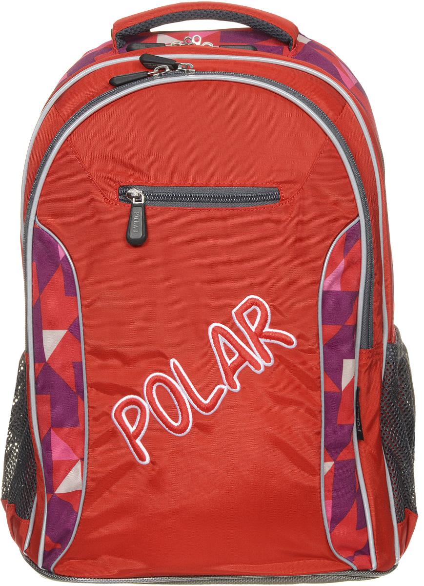 Рюкзак детский городской Polar, 26 л, цвет: оранжевый. П0082-02BP-001 BKШкольный рюкзак Polar. У рюкзака 2 отделения и несколько карманов для мелких принадлежностей. В большом отделение имеется карман под ноутбук диагональю 14. Спинка эргономичной формы, повторяет контур спины ребенка, тем самым равномерно распределяет нагрузку на позвоночник. Полумягкое дно для безопасности ношения. С обеих сторон имеются карманы для бутылок с водой. Светоотражатели спереди и сзади школьного рюкзака. Гибкая петля для того, чтобы подвесить ранец на крючок. Подходит для 1-6 классов.