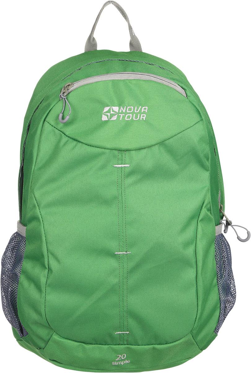 Рюкзак городской Nova Tour Симпл 20, цвет: зеленый, 20 лBP-001 BKДля тех, кто активно перемещается по городу.Облегченный городской рюкзак с одним основным отделом, небольшим фронтальным карманом и боковыми карманами из сетки.