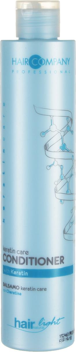 Hair Company Бальзам-уход для волос с кератином Professional Light Keratin Care Conditioner 250 мл255831Hair Company HAIR LIGHT KERATIN CARE Бальзам уход для волос с кератином специально разработан для тонких и ломких волос. Кератин, входящий в состав бальзама, глубоко проникает в структуру волос, восстанавливая поврежденные волосы, мягко распутывая их. Продукция линии keratincare специально разработана для укрепления тонких, ломких и повреждённых волос. Концентрация Кератина проникает глубоко внутрь каждого волоса, в результате чего происходит его полное восстановление от корней до самых кончиков. Таким образом, волосам возвращается их естественное состояние и блеск. Глубокое восстановление тонких и ломких волос волосы восстановленные, более сильные и живые. Кератин - главный протеин, из которого состоят волосы. Химические и технические процедуры уменьшают его количество и делают волосы слабыми и ломкими. Применение продуктов линии keratincare, гарантирует максимальное их проникновение в стержень волоса, делая волосы более плотными и восстановленными изнутри.