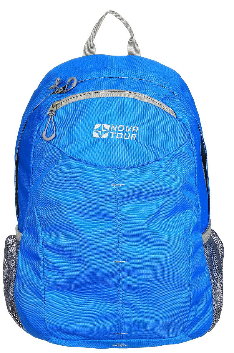 Рюкзак городской Nova Tour Симпл 20, цвет: синий, 20 лBP-001 BKДля тех, кто активно перемещается по городу.Облегченный городской рюкзак с одним основным отделом, небольшим фронтальным карманом и боковыми карманами из сетки.