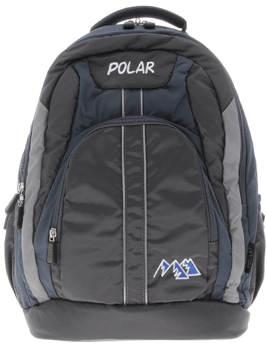 Рюкзак детский городской Polar, 24 л, цвет: серый. П221-06D-255/11Рюкзак фирмы Polar изготовлен из ткани с водоотталкивающей пропиткой. Жесткая спинка рюкзака имеет специальные вставки для лучшего воздухообмена. Новая конструкция лямок позволяет регулировать их не только по длине, но и согласно Вашему росту. Специальное крепление в верхней части каждой лямки поможет отрегулировать их так, что рюкзак сможет носить как взрослый, так и ребенок, не создавая дискомфорта для спины. Жесткое дно делает рюкзак устойчивым и дополняет удобством при ношении.