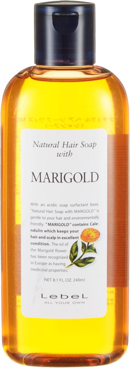 Lebel Natural Hair Шампунь с календулой Soap Treatment Marigold, 240 мл1347лпШампунь «Календула» Lebel Natural Hair Soap Treatment для жирной кожи головы с экстрактом календулы. Мягко очищает кожу головы и волосы. Сужает поры и оздоравливает кожу головы. Освежает. Хорошо увлажняет. Нормализует рН баланс кожи головы. Защищает от УФ (SPF 15).