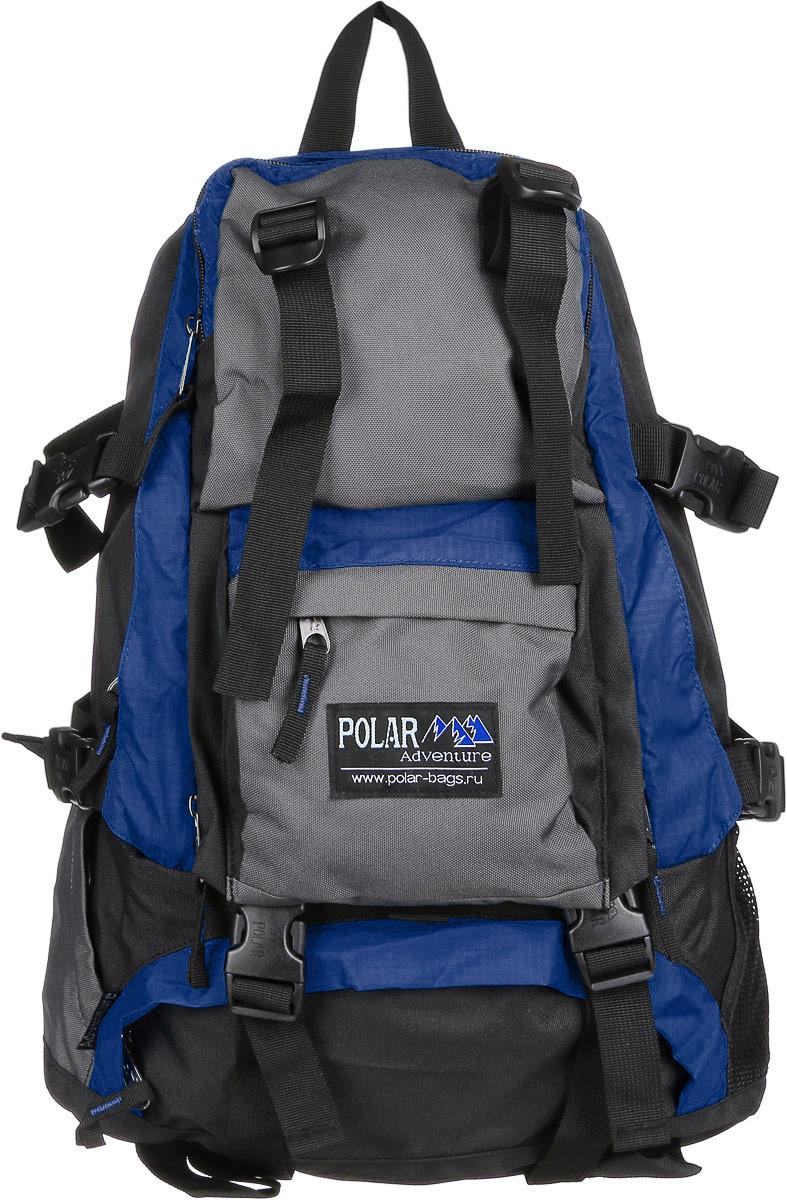 Рюкзак городской Polar, 16 л, цвет: синий. П956-04П956-04Удобный вместительный рюкзак для всего самого необходимого на отдыхе. Жесткая спинка и удобные лямки повторяющие форму плеча с дополнительной грудной и поясничной стяжками позволяет уменьшить нагрузку на спину и сделает ваш отдых максимально комфортным. Большое отделение с дополнительным карманом на молнии (кошелек, документы) внутри. С внешней стороны расположены стяжки для регулирования объема. Два боковых кармана (правый на молнии, левый из сетки), карман для обуви, три небольших кармана для мелких вещей, один из которых с клапаном и двумя вертикальными молниями застежками и дополнительными отделениями. Рюкзак выполнен из прочного полиэстера с водоотталкивающей пропиткой.