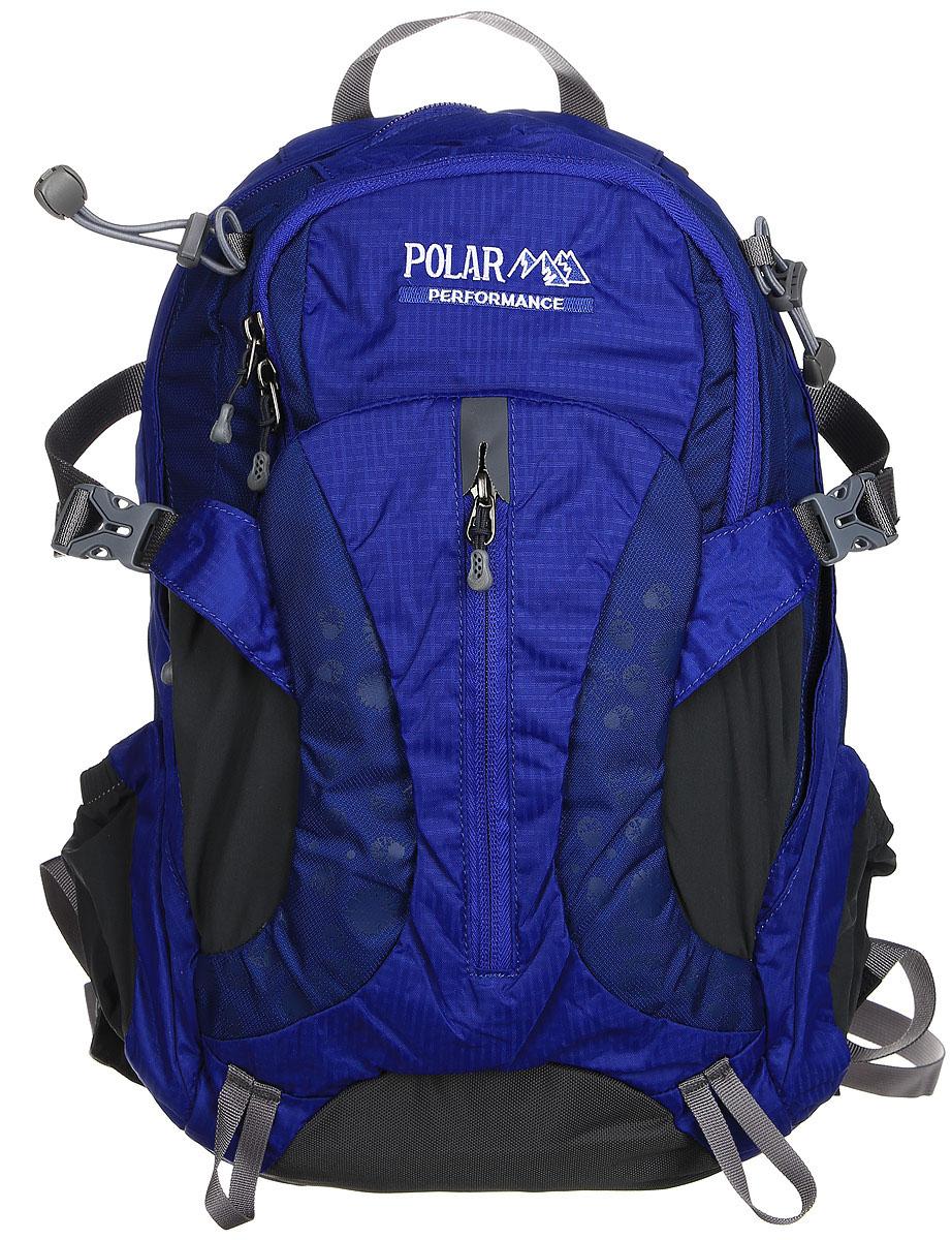Рюкзак городской Polar, 14,5 л, цвет: синий. П1552-04ЛЦ0009Женский компактный рюкзак с модным дизайном. Полностью вентилируемая спинка с системой Aircomfort, мягкие плечевые лямки создают дополнительный комфорт при ношении. Центральный отсек для персональных вещей и карманом для папки А4. Большой передний карман с органайзером, внутри удобный мягкий пенал на карабине. Два боковых кармана под бутылку с водой на резинке. Регулирующая грудная стяжка с удобным фиксатором. Регулирующий поясной ремень, удерживает плотно рюкзак на спине, что очень удобно при езде на велосипеде или продолжительных походах.