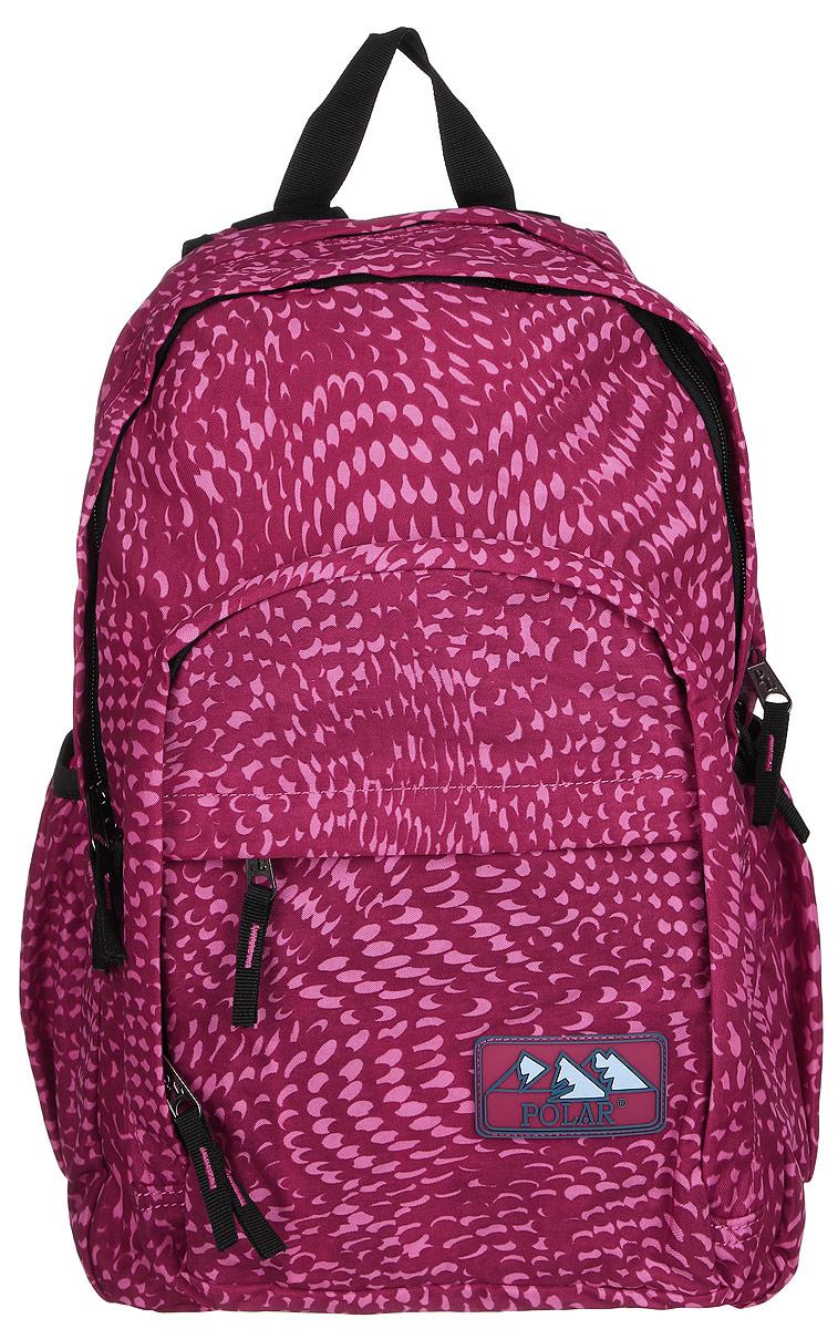 Рюкзак городской Polar, 15 л, цвет: розовый. П3901-29П3901-29Городской рюкзак с модным дизайном. Полностью вентилируемая и удобная мягкая спинка, мягкие плечевые лямки создают дополнительный комфорт при ношении. Центральный отсек для персональных вещей и документов A4 на двухсторонних молниях для удобства. Маленький карман для mp3, CD плеера. Два боковых кармана под бутылки с водой на резинке. Регулирующая грудная стяжка с удобным фиксатором. Регулирующий поясной ремень, удерживает плотно рюкзак на спине, что очень удобно при езде на велосипеде или продолжительных походах. Система циркуляции воздуха Air. Материал Polyester PU 600D.