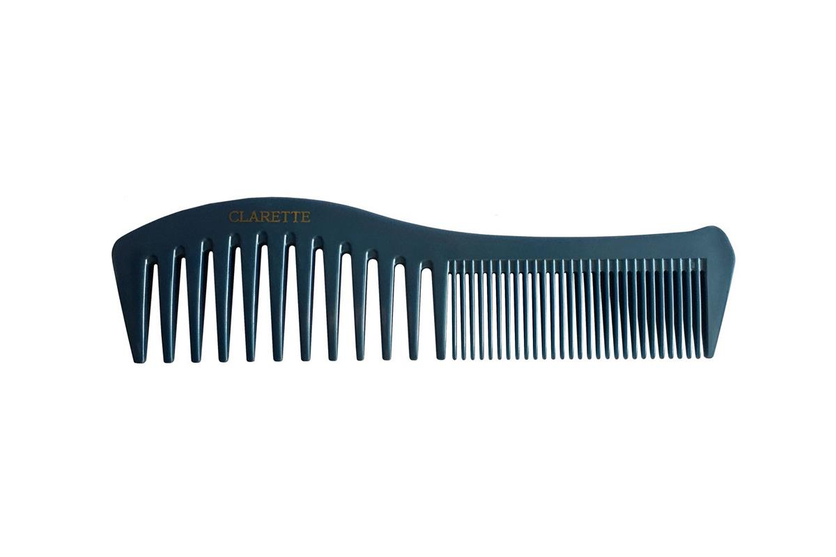 Clarette Расческа для волос комбинированная, цвет: синий