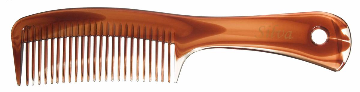Silva Расческа для волос с ручкой, цвет: коричневый