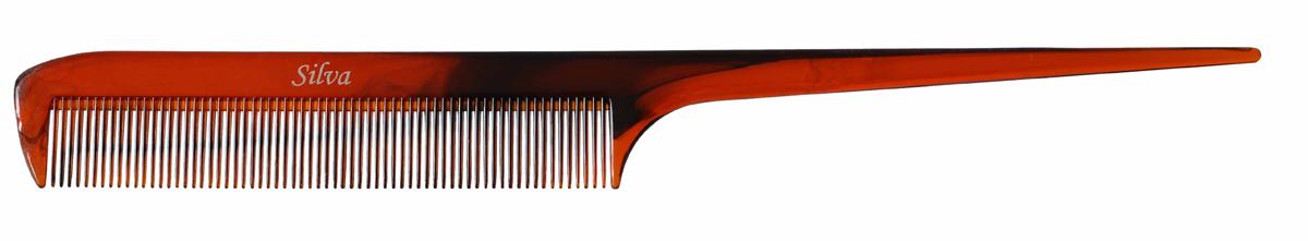 Silva Расческа для волос с остроконечной ручкой, цвет: коричневый