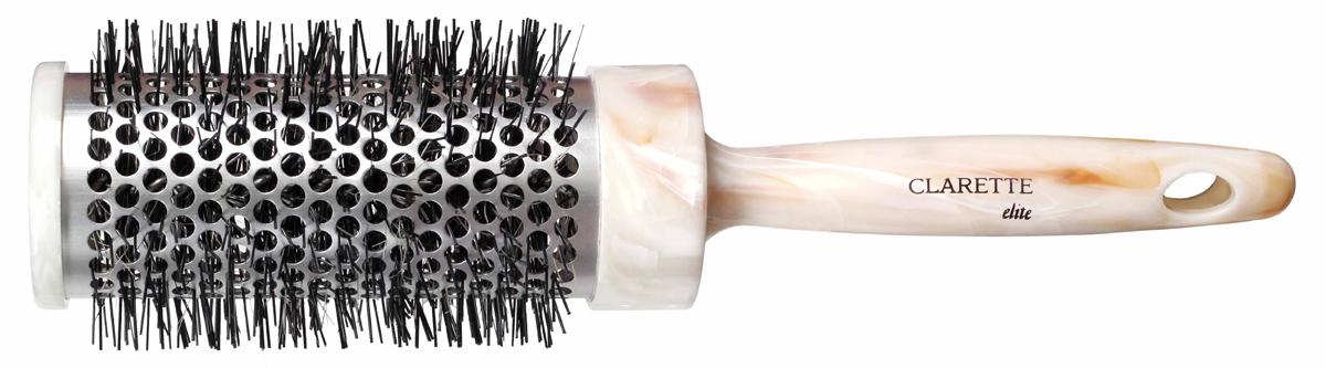 Clarette Щетка для волос для термозавивки (средняя), цвет: бежевыйCEM 407Коллекция Clarette Elite Легкий Мрамор представляет элитную серию щеток и брашингов для расчесывания и укладки. волос любого типа. Коллекция выполена в стиле мрамора и выглядит очень элегантно. Изготовлена из высокотехнологичичного облегченного пластика. Воздухопроницаемый алюминевый корпус обеспечивает быструю укладку волос любой длины. Специальная термостойкая щетина легко накручивает волосы на щетку. Помогает создать локоны