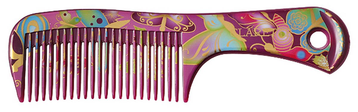 Clarette Расческа для волос малая, цвет: сиреневыйCFB 421Коллекция Сlarette Fleur- это расчески и щетки для волос из облегченного пластика. Яркая цветовая расцветка напоминает нам о долгожданном лете и улучшает наше настроение. Незаменнима для отпуска. В коллекции представлены щетки разных размеров, в том числе и мини-щетка, которая идеальна для маленьких принцесс. Массажные щетки необычно легки, прочны и долговечны в использовании. Предназначенна для любого типа волос. Форма расчески позволяет легко и удобно расчесывает даже густы волосы. Подходит для ежедневного применения